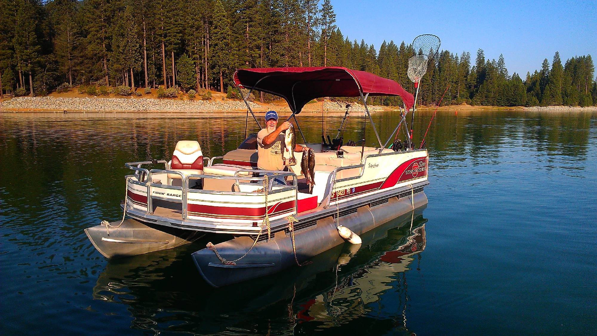 Bass lake ca fishing guided charter boats for Bass lake ca fishing